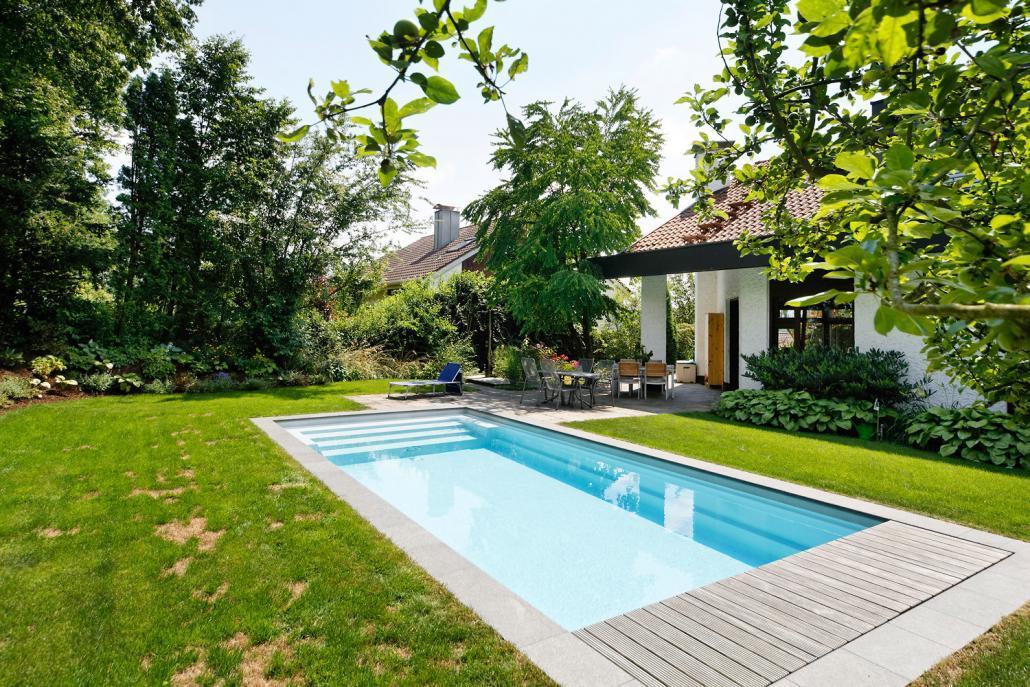 perfekt integrierter pool schwimmbadbau kissel stuttgart. Black Bedroom Furniture Sets. Home Design Ideas